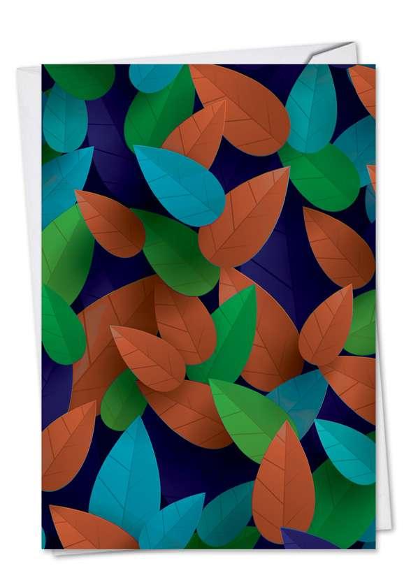Creative Seasons Greetings Paper Card from NobleWorksCards.com - Season's Leaves