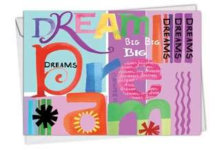 Stylish Blank Greeting Card by Maret Hensick from NobleWorksCards.com - Grateful Graffiti