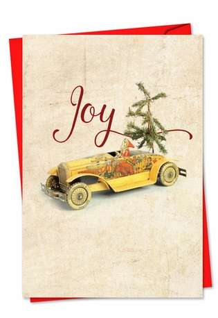 Stylish Christmas Paper Card from NobleWorksCards.com - Christmas Antiquities