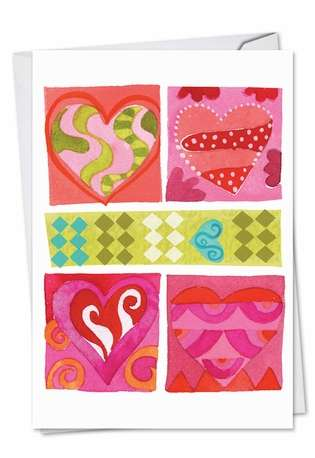 Art Hearts Valentine's Day Greeting Card By Nobleworks