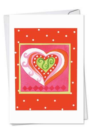 Art Hearts Valentine's Day Paper Card By Nobleworks