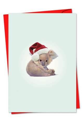 Creative Christmas Paper Card by John Butler from NobleWorksCards.com - Zoo Babies