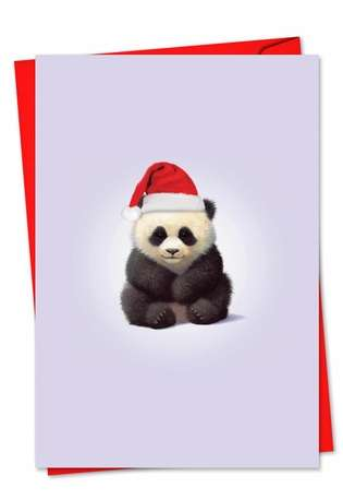 Creative Christmas Printed Card by John Butler from NobleWorksCards.com - Zoo Babies