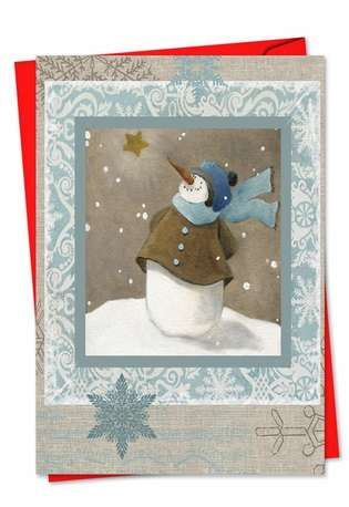 Creative Christmas Paper Card by Carol Robinson from NobleWorksCards.com - Snow Angels