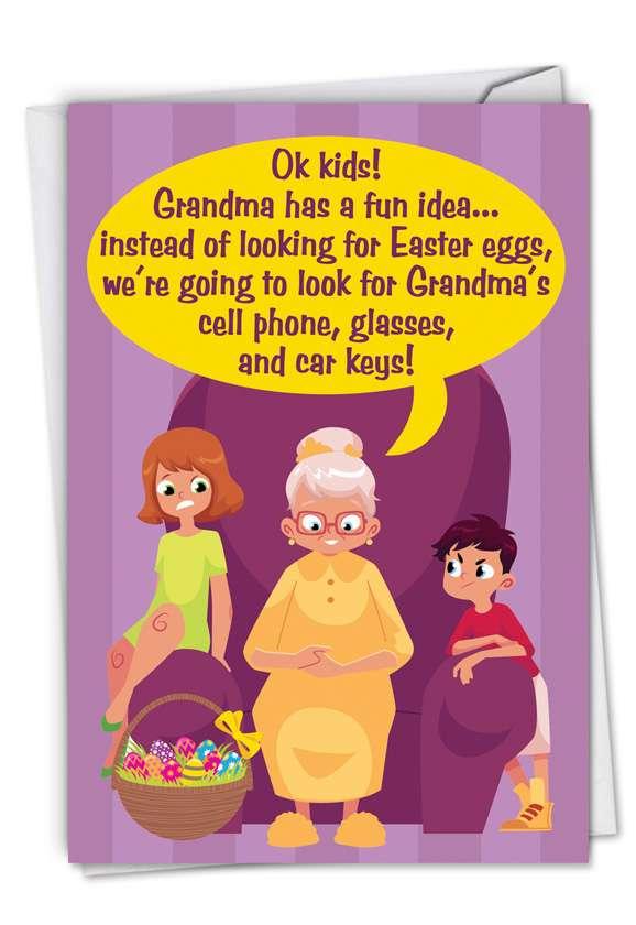 Humorous Easter Paper Card From NobleWorksCards.com - Grandma's Fun Idea
