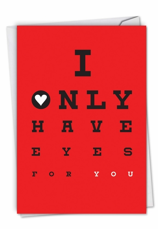 Hysterical Valentine's Day Printed Greeting Card From NobleWorksCards.com - Eyes For You