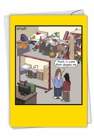 Humorous Mother's Day Card By Tim Whyatt From NobleWorksCards.com - Skype Screen