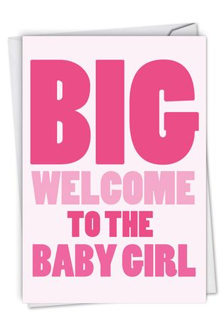 Hysterical Baby Greeting Card From NobleWorksCards.com - New Baby Girl