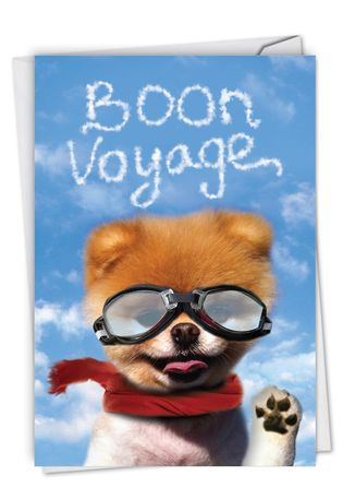 Hilarious Bon Voyage Printed Greeting Card By Spotlight Licensing From NobleWorksCards.com - Boon Voyage