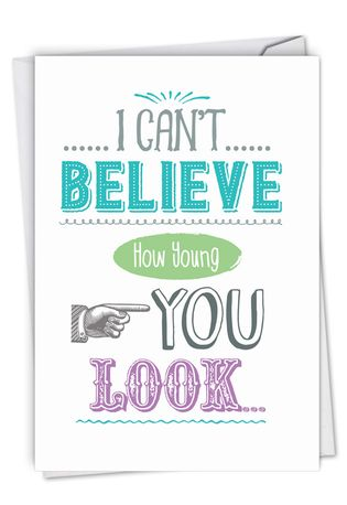 Funny Birthday Paper Card By Johnie Seals From NobleWorksCards.com - Your Old Photos
