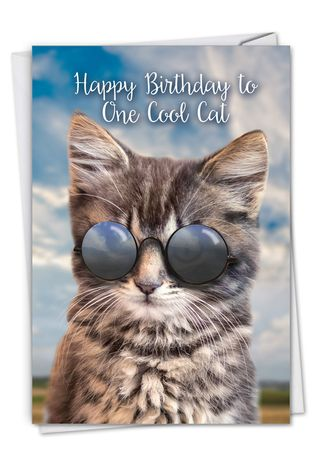 Brilliant Kool Kitties Brown Creative Birthday Printed Greeting Card Personalised Birthday Cards Petedlily Jamesorg