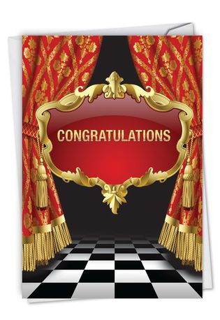 Stylish Congratulations Card From NobleWorksCards.com - Take A Bow
