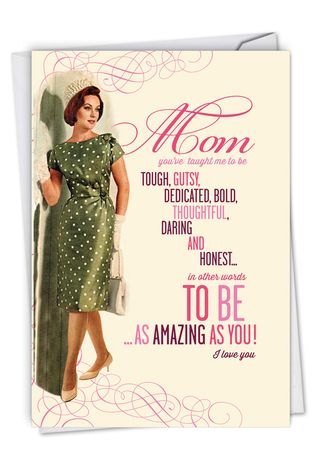 Hilarious Mother's Day Printed Card By Offensive+Delightful From NobleWorksCards.com - Amazing As You