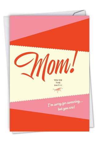 Sorry For Swearing: Humorous Mother's Day Paper Greeting Card