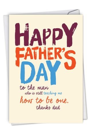Funny Father's Day Card By Offensive+Delightful From NobleWorksCards.com - Dad Teacher