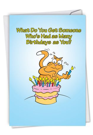 Hysterical Birthday Printed Card By Kenneth Benner From NobleWorksCards.com - Fire Extinguisher