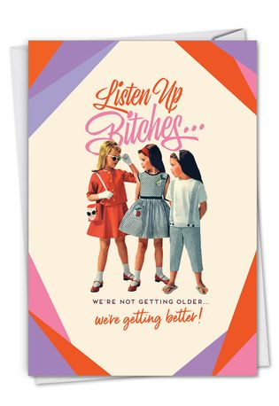 Hilarious Birthday Printed Card By Offensive+Delightful From NobleWorksCards.com - Listen Up