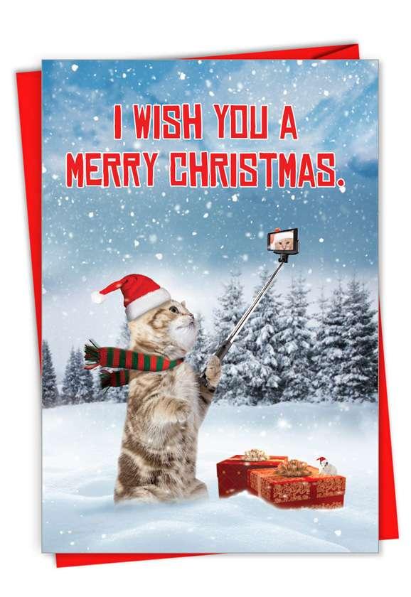 Santa Cat Selfie: Hysterical Merry Christmas Greeting Card