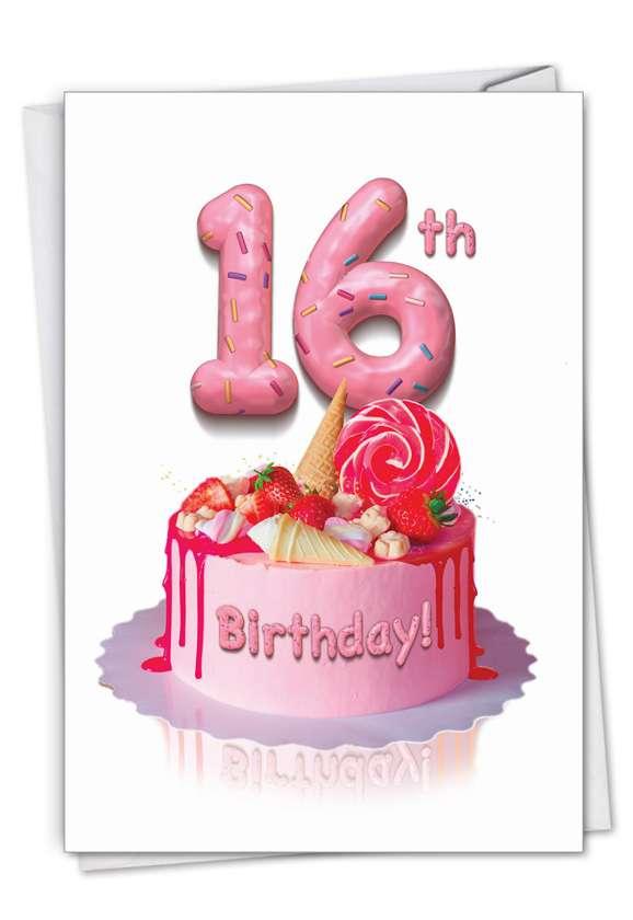 Stylish Milestone Birthday Card From NobleWorksCards.com - Big Day 16