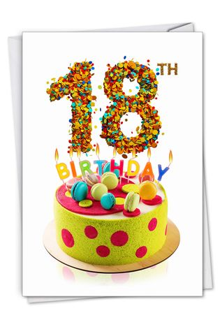 Creative Milestone Birthday Greeting Card From NobleWorksCards.com - Big Day 18