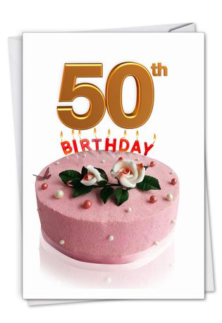 Creative Milestone Birthday Printed Greeting Card From NobleWorksCards.com - Big Day 50