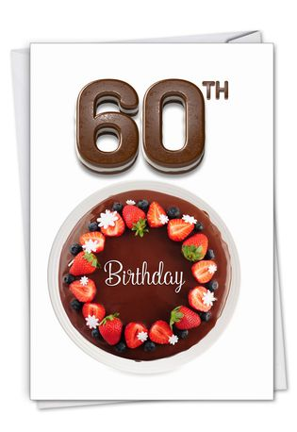 Stylish Milestone Birthday Card From NobleWorksCards.com - Big Day 60