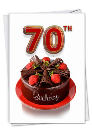 Creative Milestone Birthday Greeting Card From NobleWorksCards.com - Big Day 70