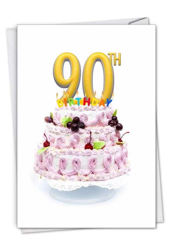 Creative Milestone Birthday Printed Card From NobleWorksCards.com - Big Day 90