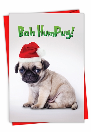 Humorous Merry Christmas Card From NobleWorksCards.com - Bah HumPug