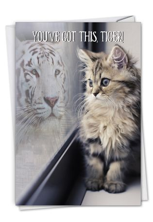 Stylish Friendship Card From NobleWorksCards.com - Aspirations - Cat