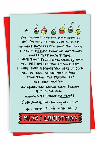 Funny Merry Christmas Card By Angela Chick From NobleWorksCards.com - Both Pretty Good