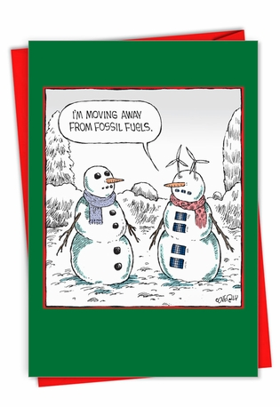 Humorous Merry Christmas Card By Dave Coverly From NobleWorksCards.com - Fossil Fuels