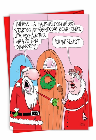 Funny Merry Christmas Card By Gary McCoy From NobleWorksCards.com - Rump Roast