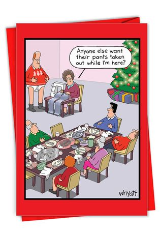 Hysterical Merry Christmas Greeting Card By Tim Whyatt From NobleWorksCards.com - Holiday Sewing