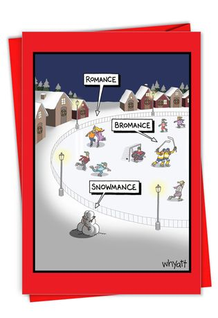 Hilarious Merry Christmas Printed Card By Tim Whyatt From NobleWorksCards.com - Snowmance