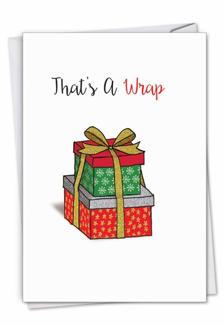 Creative Merry Christmas Printed Card From NobleWorksCards.com - Punny Holidays - Present