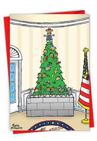 Hilarious Merry Christmas Greeting Card By Randall McIlwaine From NobleWorksCards.com - Tree Wall