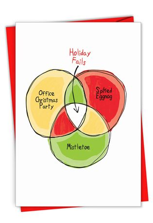 Hysterical Merry Christmas Greeting Card From NobleWorksCards.com - Holiday Fails