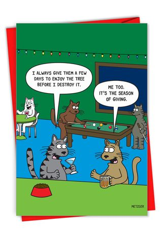 Hysterical Merry Christmas Printed Card By Scott Metzger From NobleWorksCards.com - Season of Giving