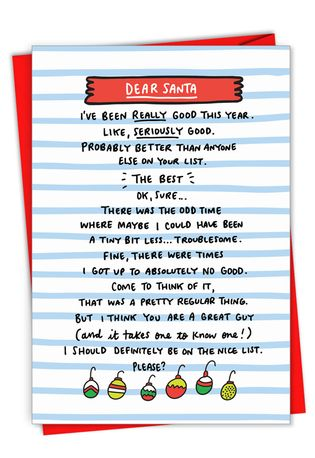 Hysterical Merry Christmas Greeting Card By Angela Chick From NobleWorksCards.com - Seriously Good