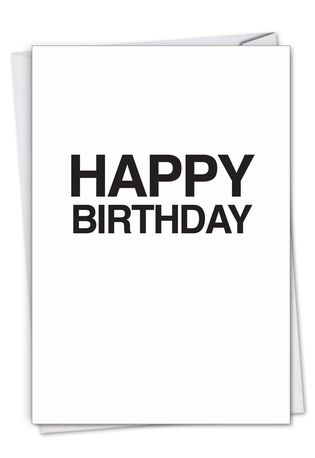 Hilarious Birthday Greeting Card From NobleWorksCards.com - Your Effin Gift
