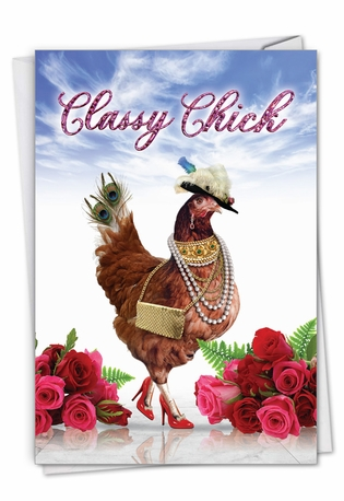 Funny Mother's Day Paper Card From NobleWorksCards.com - Classy Chick