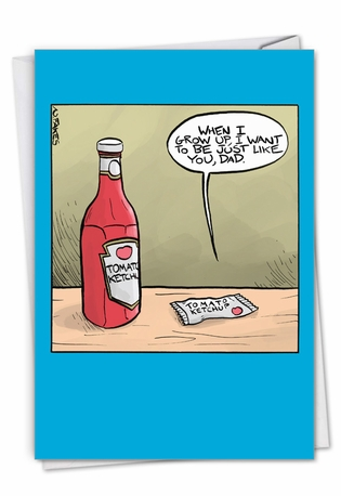 Ketchup Dad: Hilarious Father's Day Printed Card