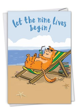 Hysterical Retirement Greeting Card By Susan Camilleri Konar From NobleWorksCards.com - Cat Retirement