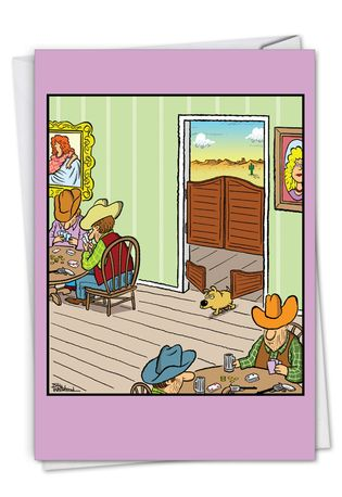 Saloon Dog Door: Hilarious Birthday Greeting Card