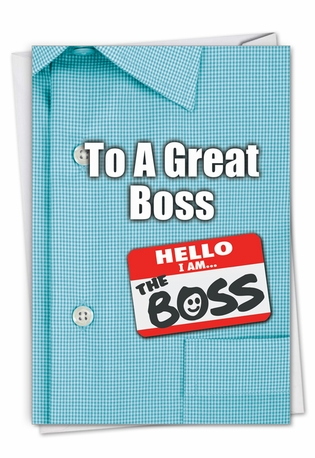 Creative Boss's Day Printed Greeting Card From NobleWorksCards.com - Thank You to a Great Boss