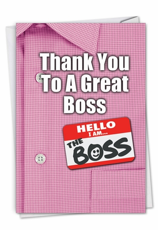 Stylish Boss Thank You Card From NobleWorksCards.com - Thank You to a Great Boss