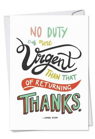 Creative Thank You Printed Greeting Card from NobleWorksCards.com - Words Of Appreciation