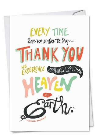 Stylish Thank You Printed Card from NobleWorksCards.com - Words Of Appreciation