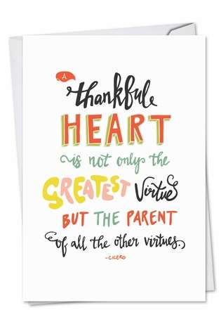 Stylish Thank You Greeting Card from NobleWorksCards.com - Words Of Appreciation